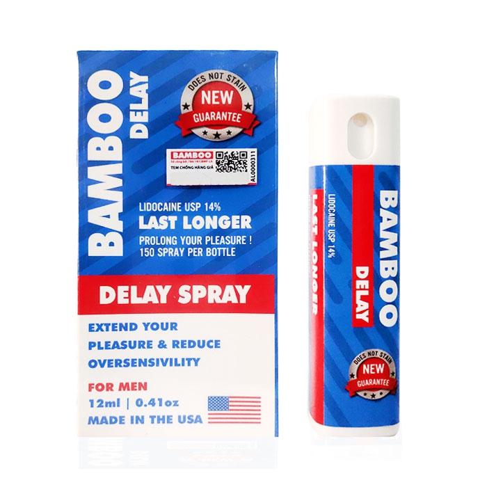 Xịt chống xuất tinh sớm Bamboo Delay Spray USA, Chai2l